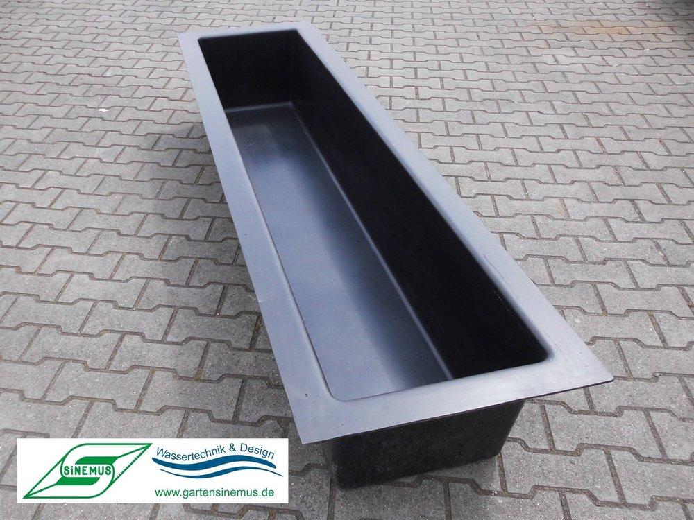 GFK-Wasserbecken rechteckig 225x95x35cm - Sinemus GmbH